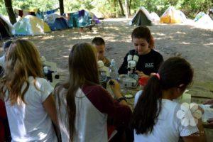 Foglalkozás a táborban (Photo: Szekula Veronika)