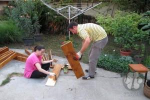 A táblák állványzatának készítése (Photo: Harkai Ákos)