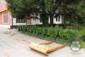 Postavljanje tabli kod zimovališta u Staroj Moravici (Photo: Harkai Ákos)