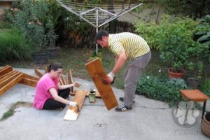 Priprema postolja za table (Photo: Harkai Ákos)